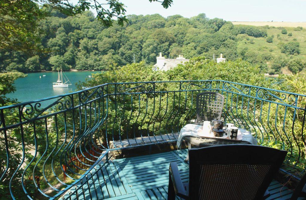 Balcony at Galanda Treetops, Newton Ferrers