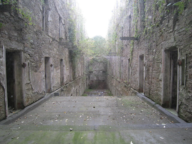 Photograph of the inside of Bodmin Jail in Cornwall