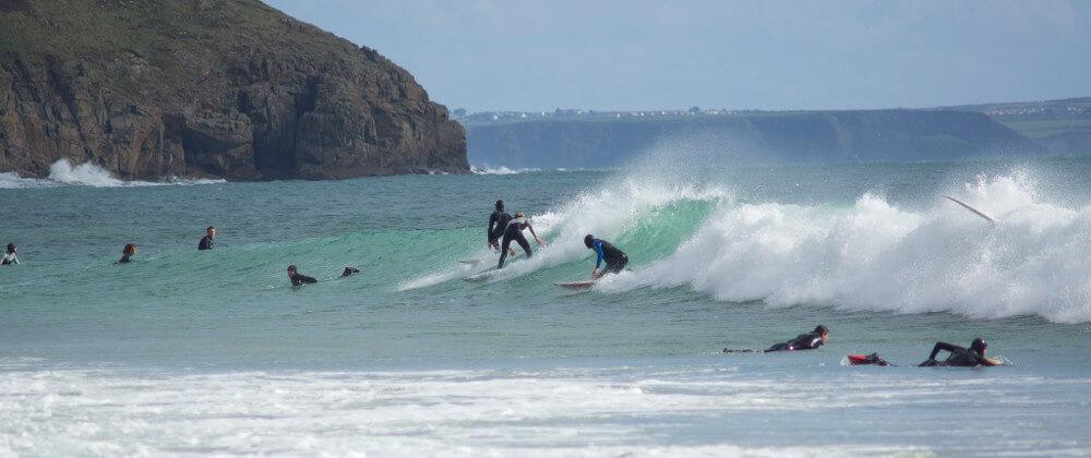 Praa Sands Surfing Body Boarding