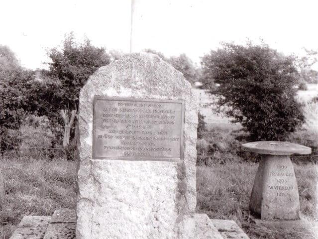 Sedgeworth Moor Monument image in black and white