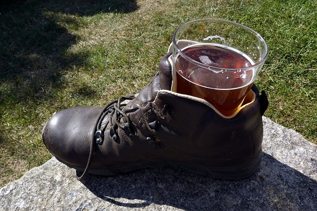 Beer in a Walking Boot