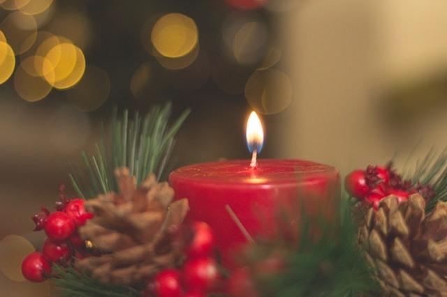 Christmas Candle Burning