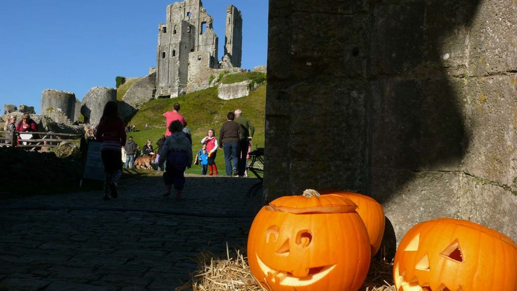 Corfe Castle at Halloween