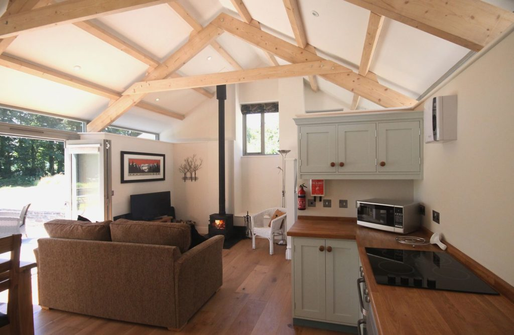 Romantic Lounge ans Kitchen Area, Mugwell Barn