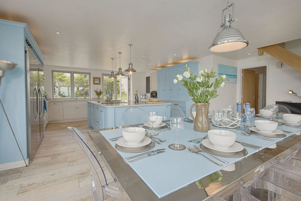Blue Decor Kitchen in Holiday Home