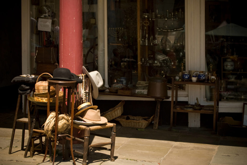 Outside an Antique Shop Totnes Devon