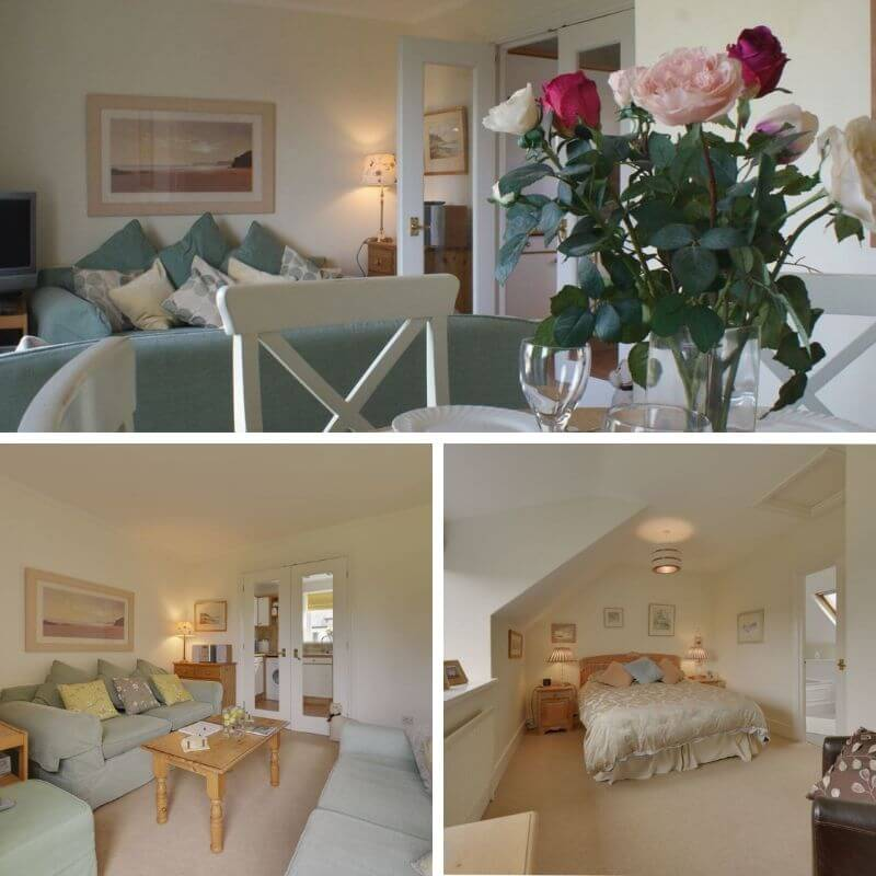 Collage of images of Linney Cottage Dittisham