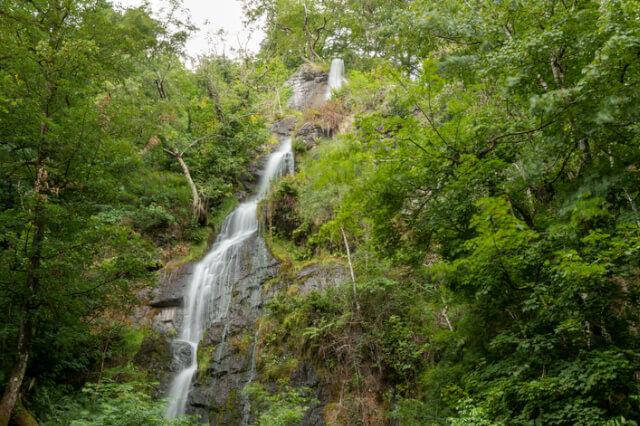 Canonteign Falls waterfall in Dartmoor National Park in Devon