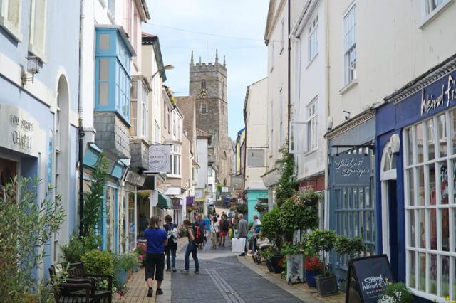 A street in Dartmouth, Devon