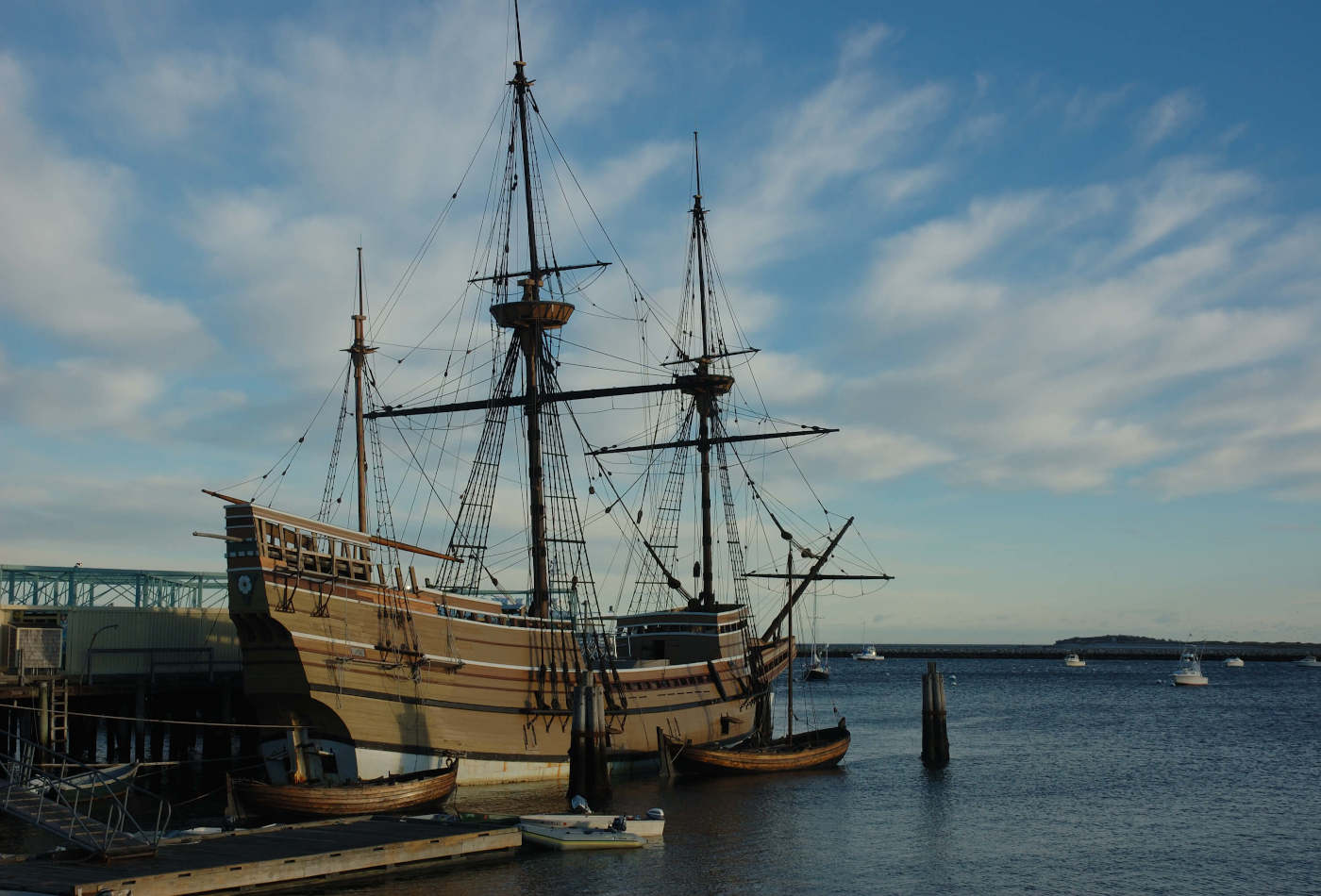 Mayflower replica ship in Plymouth, MA