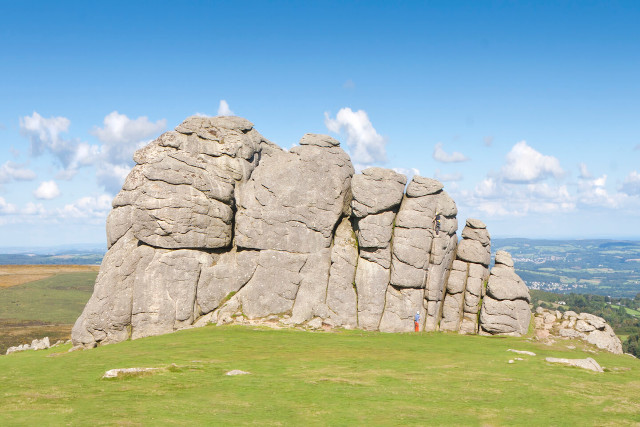 Climbing Haytor Rock on Dartmoor