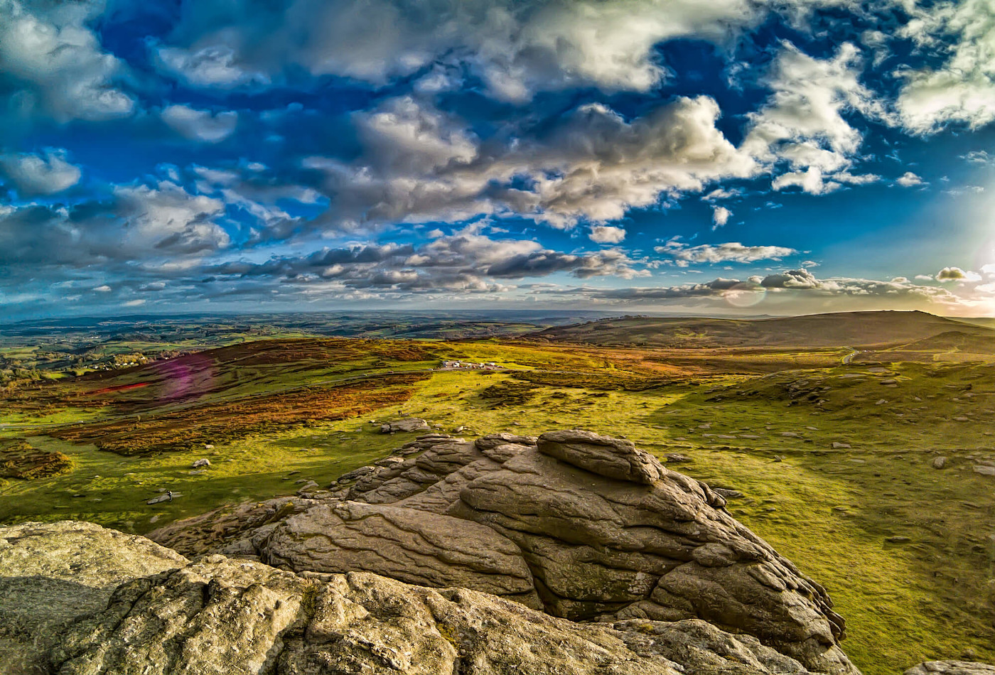 View of Dartmoor National Park