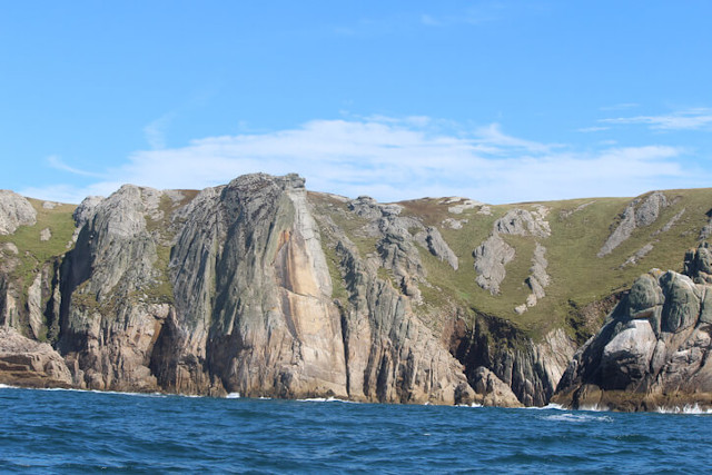 Devil's slide on Lundy Island