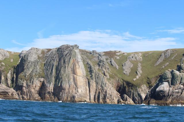 Devil's slide on Lundy Island