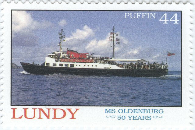 Lundy Island puffin stamp