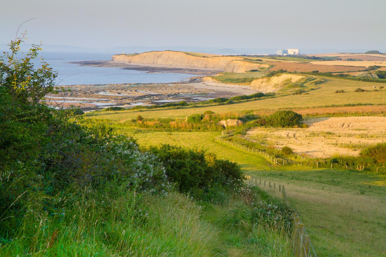 Kilve beach and coastline Somerset England