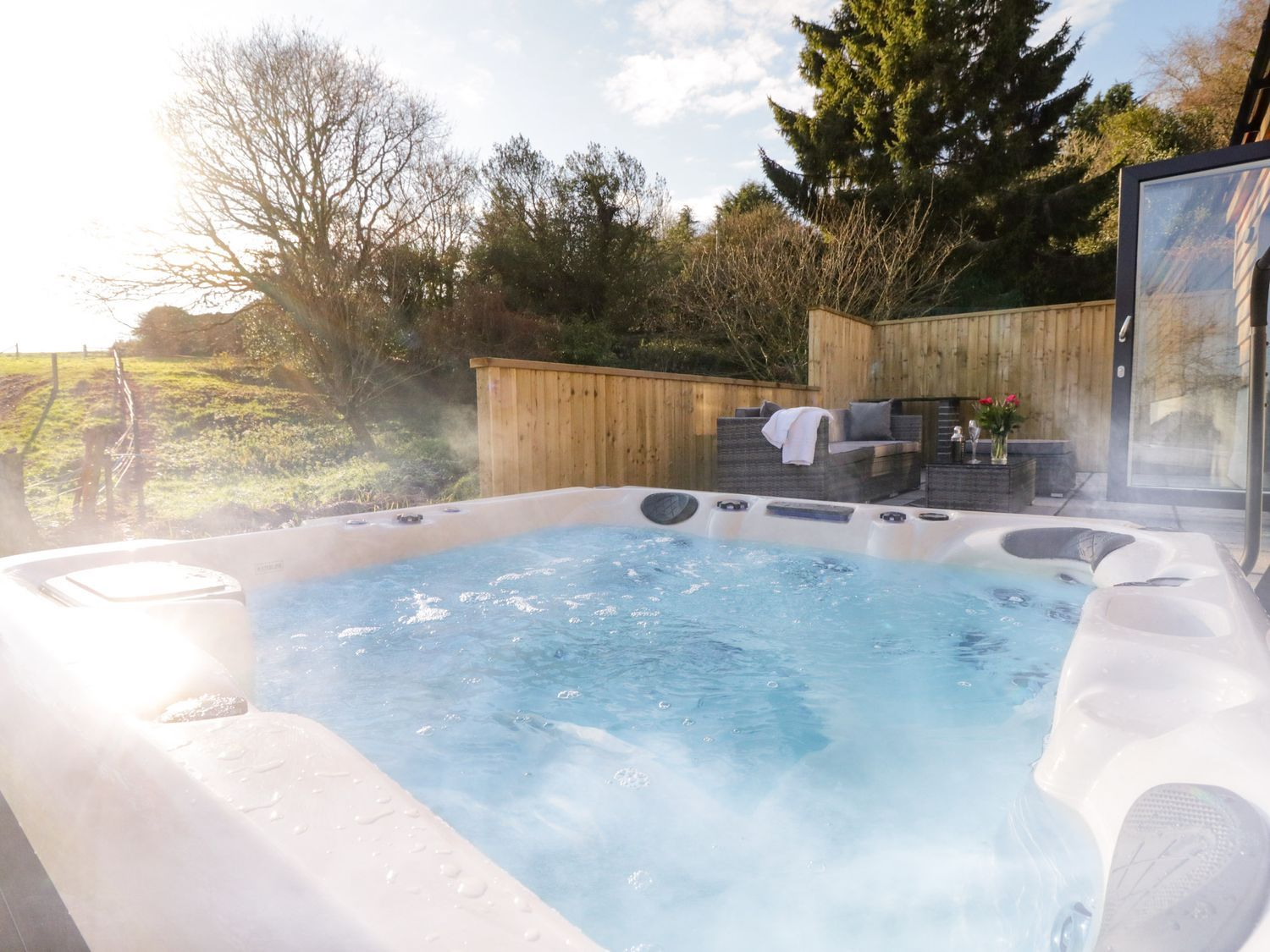 Buying a holiday home in the West Country - think about installing a hot tub.