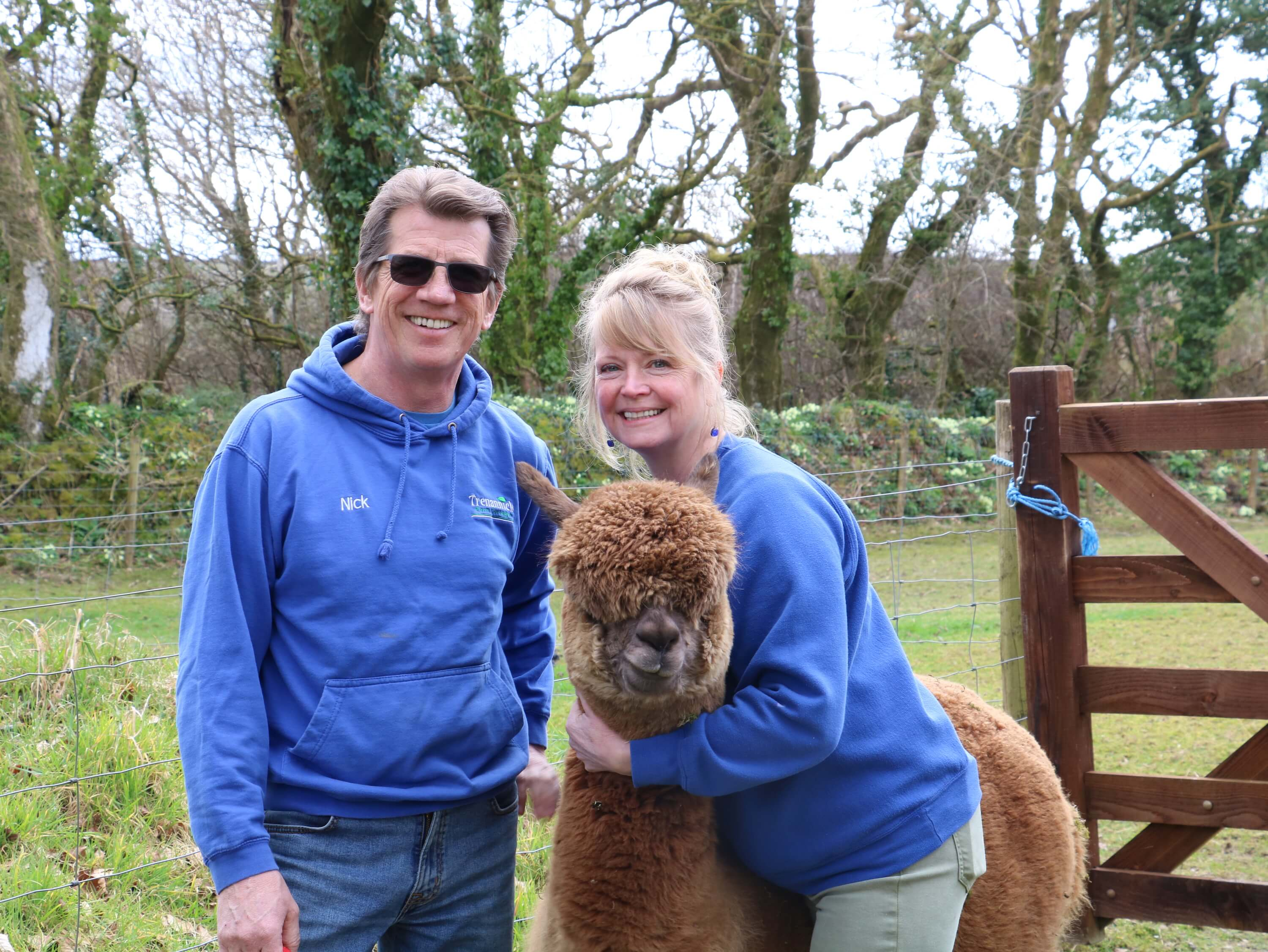 Meet the owners - with their alpacas