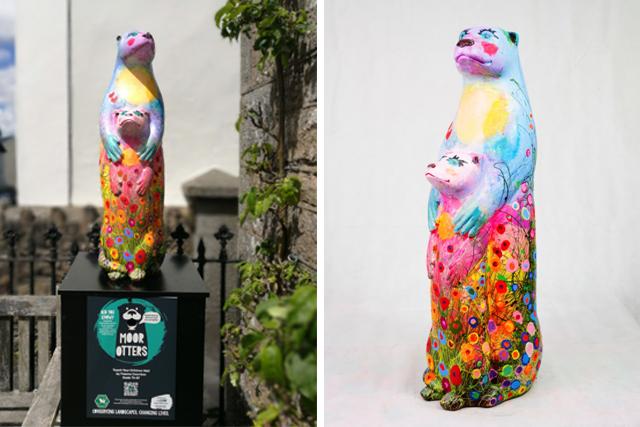 Moor Otters Art Trail - Helpful Holidays Sculpture