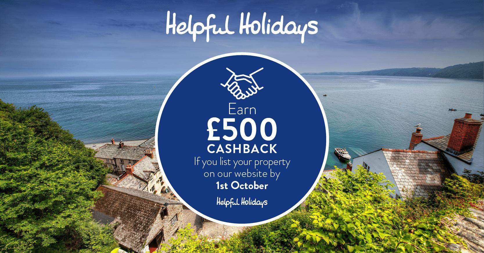 Helpful Holidays £500 cashback owner offer