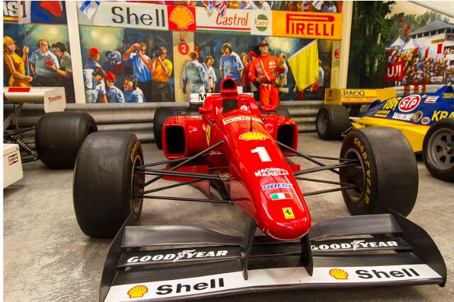 Ferrari-Formula-1-car-in-Haynes-International-Motor-Museum-Sparkford-Somerset