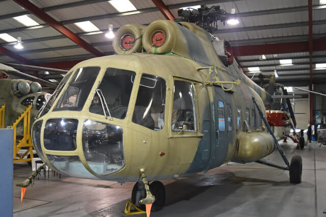 Mil-Mi-8PS-07-red-helicopter-used-in-Black-Widow-in-The-Helipcopter-Museum-Weston-super-Mare