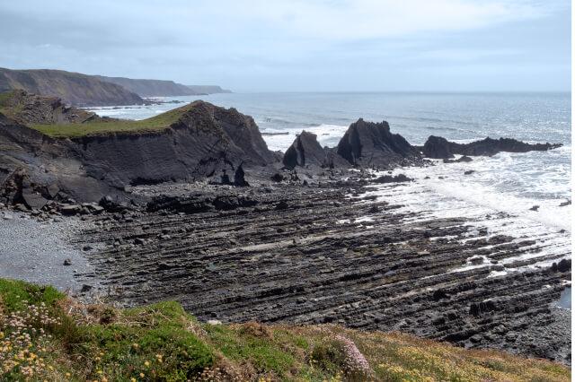 Hartland Quay Rock Formations on Beach North Devon