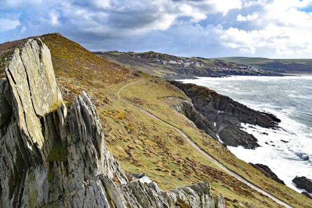 Morte Point coastal scenery in North Devon